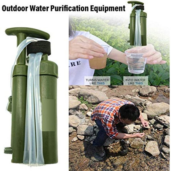 WMMDM Survival Water Filter 2 Water Filter, Dual Technology Microfilter for Personal or Small Group Camping, Backpacking or Emergency Preparedness