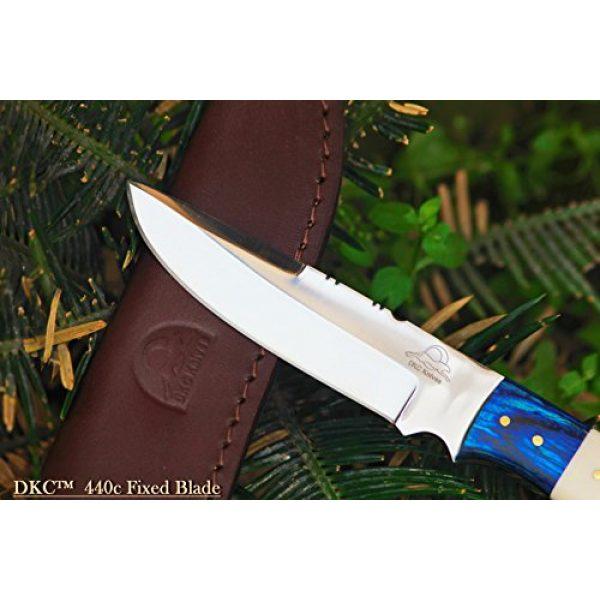 "DKC Knives Fixed Blade Survival Knife 2 (2 6/18) DKC-521-HT-440c Blue Moon Hunter 440c Stainless Steel Hunting Handmade Knife Fixed Blade 7 oz 9"" Long"