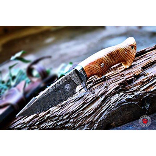 Bobcat Knives Fixed Blade Survival Knife 4 Bobcat Knives Custom Handmade Hunting Knife Damascus Steel Blade Olive Wood Handle 10'' Overall