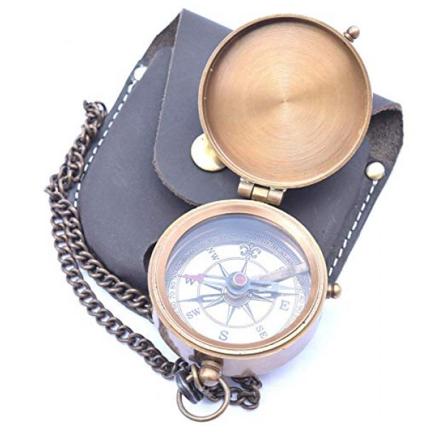 NEOVIVID Survival Compass 5 NEOVIVID Be Strong and Courageous Engraved Compass, Confirmation Gift Ideas, Baptism Gifts