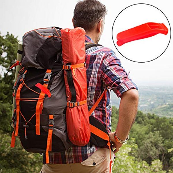 Augsun Survival Whistle 5 Augsun 40 Pcs Emergency Safety Whistle Plastic Whistles Set with Lanyard,Red and Orange