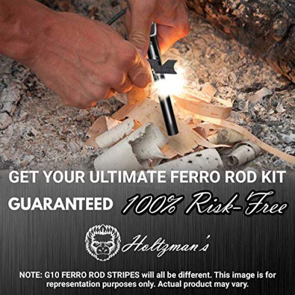 "Holtzman's Gorilla Survival Survival Fire Starter 4 Premium Ferro Rod Fire Starter - Gift Box 6"", 4 1/2"" Ferrocerium Rod Survival Kit - 3 in 1 Magnesium Flint and Steel Set with Paracord & Scraper - Lightweight Emergency Camping Tool"