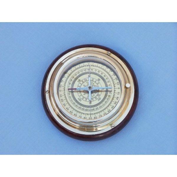 """Hampton Nautical Survival Compass 4 Hampton Nautical Brass Directional Desktop Compass, 6"""", Brass"""