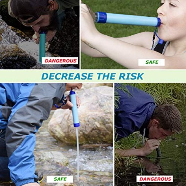 Kerrogee Survival Water Filter 3 Kerrogee Portable Water Filter Straw,396 Gallon Filtration Capacity,0.01 Micron Filtration Accuracy Survival Water Filter,Easy Carry for Camping,Backpacking