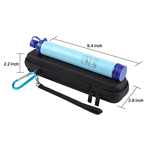 LuckyNV  5 LuckyNV Carry Travel Case Cover for LifeStraw and LifeStraw Steel Personal Water Filte Sewage Purification Storage Zipper Protective Bags (CASE ONLY)