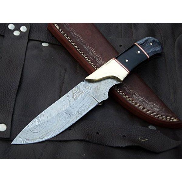 "DKC Knives Fixed Blade Survival Knife 2 DKC Knives (9 7/18) Sale DKC-714 Black Widow Damascus Steel Hunting Handmade Knife Fixed Blade 8.5 oz 9"" Long 4"" Blade"