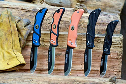Outdoor Edge  2 Outdoor Edge RazorLite Replaceable Blade Folding Hunting Knife with Nylon Sheath