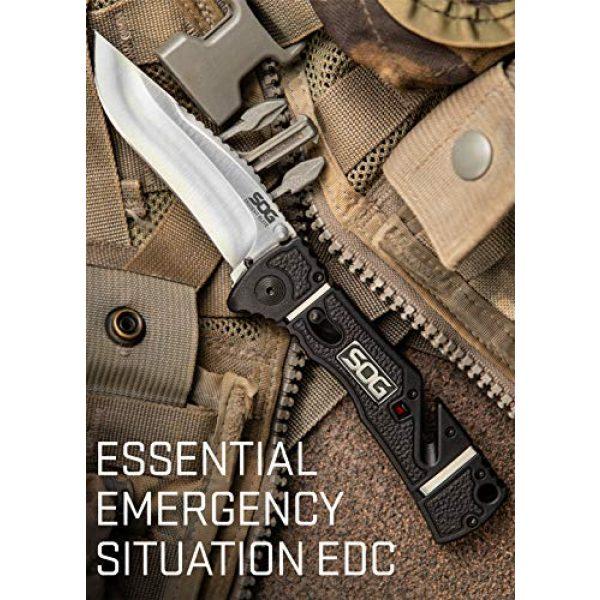 SOG Folding Survival Knife 3 SOG Rescue Pocket Knife - Trident Elite Tactical