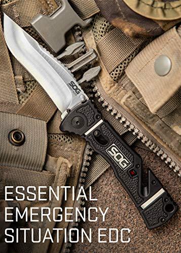 SOG  3 SOG Rescue Pocket Knife - Trident Elite Tactical