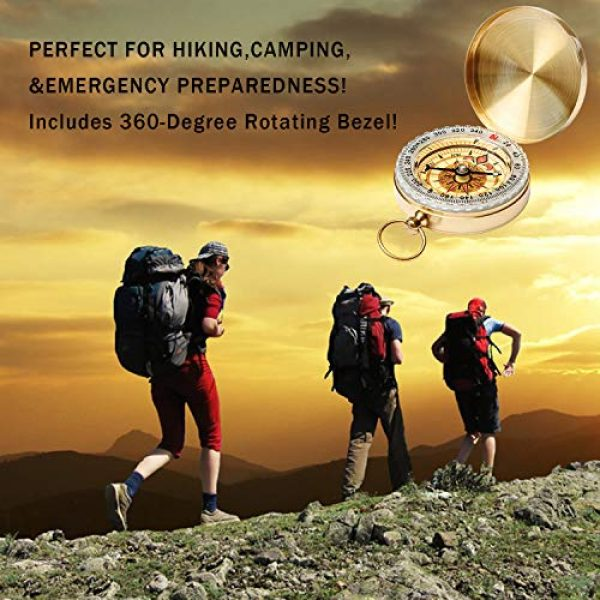 Qi Mei Survival Compass 6 Qi Mei Camping Survival Compass Metal Pocket Compass Kids Compass for Hiking Camping Hunting Outdoor Military Navigation Tool