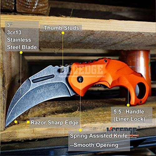 KCCEDGE BEST CUTLERY SOURCE  2 KCCEDGE BEST CUTLERY SOURCE Pocket Knife Camping Accessories Survival Kit Razor Sharp Edge Karambit Folding Knife EDC Camping Gear 56737