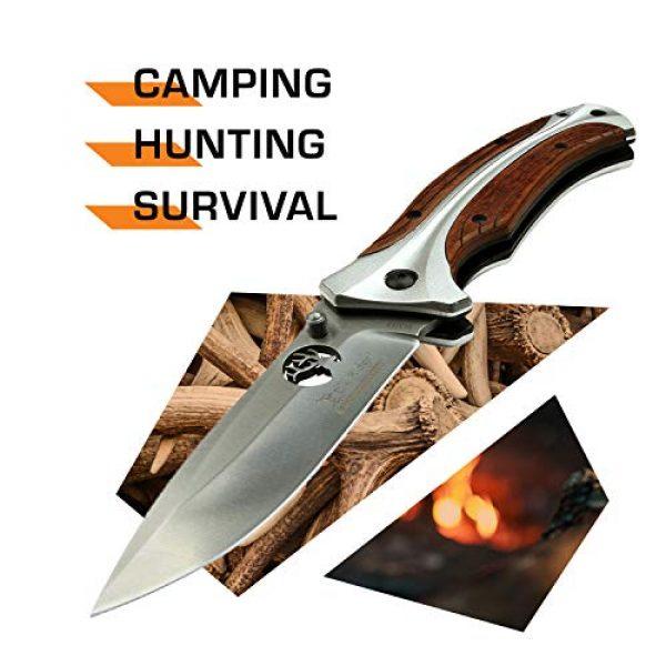 Elk Ridge Evolution Folding Survival Knife 2 Elk Ridge Evolution Folding Knife - ERE-FDR011-BR