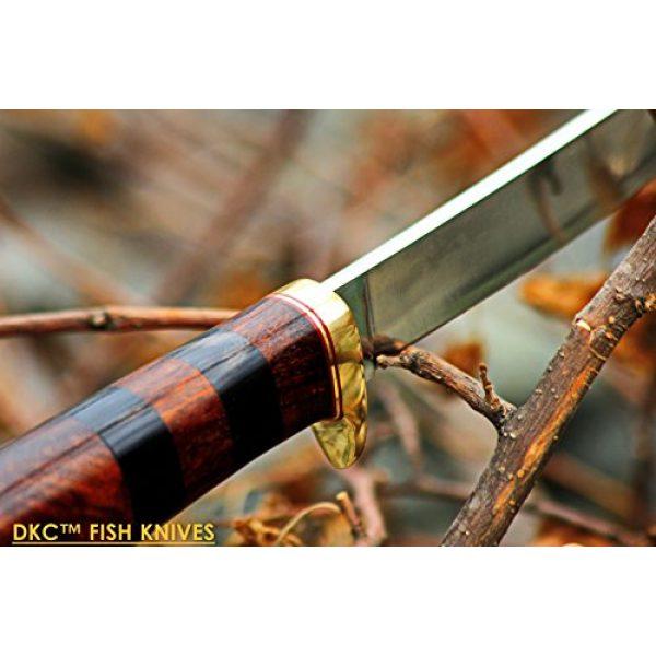 "DKC Knives Fixed Blade Survival Knife 6 (4 9/18) Sale DKC-610 Sale Black Doucette Fishing Filet Knife Mirror Finish Steel Blade Hunting Handmade Knife Fixed Blade 5.9 oz 11"" Long 6"" Blade"