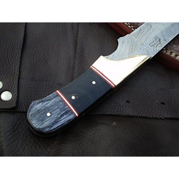 "DKC Knives Fixed Blade Survival Knife 4 DKC Knives (9 7/18) Sale DKC-714 Black Widow Damascus Steel Hunting Handmade Knife Fixed Blade 8.5 oz 9"" Long 4"" Blade"
