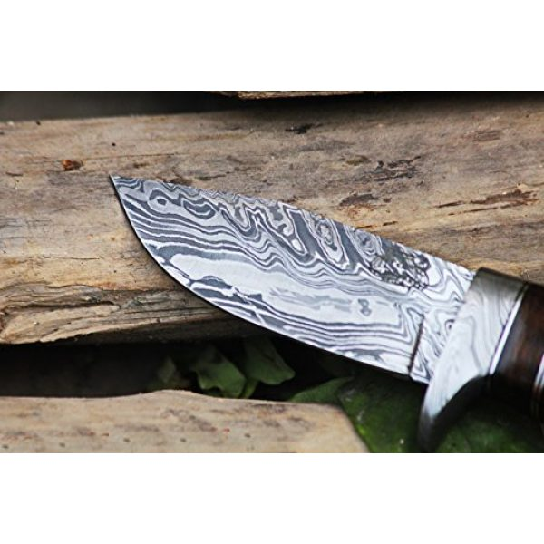 BLACK MAMBA KNIVES Fixed Blade Survival Knife 2 Black Mamba Knives BMK-101 Eagle 8.5 Long 4 Blade 7 Ounce Blade Damascus Hunting Fixed Blade Knife With Antler Hand Made Damascus Word Class Knives