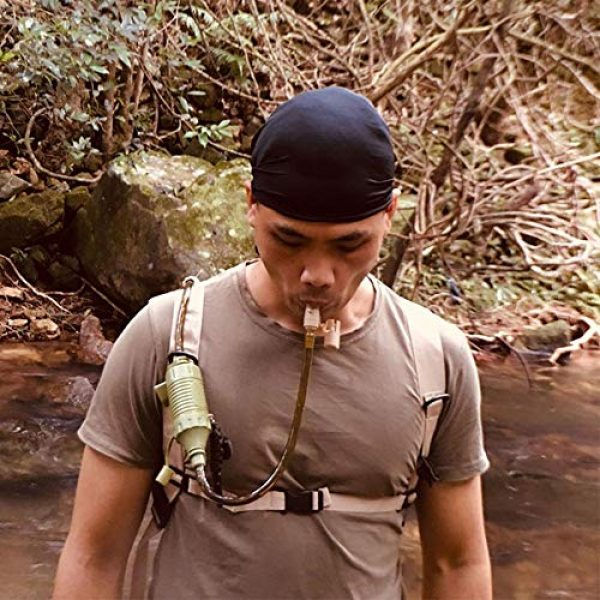 coreychen Survival Water Filter 2 coreychen Mini Camping Drinking Outdoor Water Purifier Suction, Personal Water Purifier, Water Filter Straw, Water Filter Matching Compass Lifeline Survival for Outdoor Camping Traveling