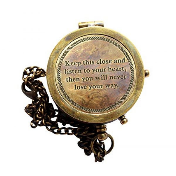 MAH Survival Compass 3 MAH Keep This Close and Listen to Your Heart , Camping Compass Engraved with Gift Compass C-3129