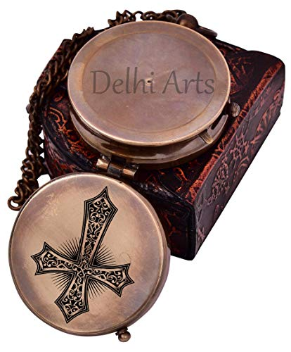 Delhi Arts Survival Compass 5 Baptism Gift Personalized Keepsake compass Engraved Cross and Be Strong and Courageous, Confirmation Gift Ideas, Uplifting   Heavenly Gift of Faith. The Perfect Baptism Gift, Missionary, Birthday