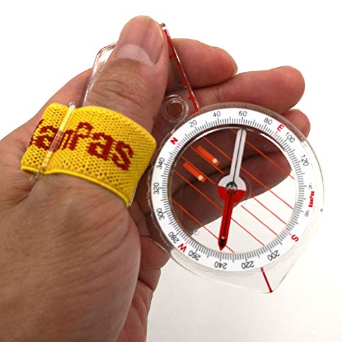 KanPas Survival Compass 3 Elite Thumb Orienteering Compass Fast Neddle Setting for Outdoor Adventure Map Reading