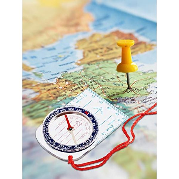 Gejoy Survival Compass 7 Gejoy Boy Scout Compass Orienteering Compass Map Compass for Hiking Fishing Camping Navigation