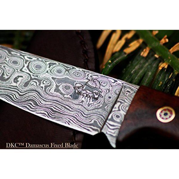 "DKC Knives Fixed Blade Survival Knife 3 Sale (33 5/18) DKC-73 Survival 1 Damascus Hunting Knife 8"" Long 4"" Blade 5.4 oz ! Walnut Handle"
