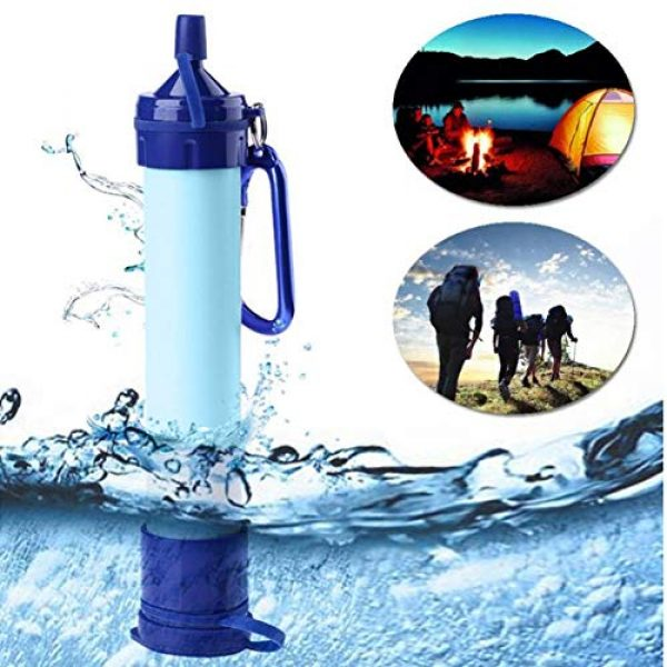 Zerone- Survival Water Filter 5 Water Filter Straw, Portable Purifier Water Filter Straw Tool Accessory for Camping Hiking Emergency Survival