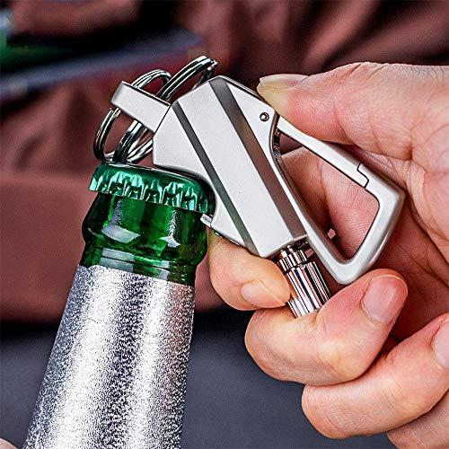 Lixada Survival Keychain 3 Lixada Keychain Bottle Opener with Flint Metal Matchstick Fire Starter Great Kerosene Refillable Keychain Multitool Mountaineering Buckle Lighter Emergency Survival Gear