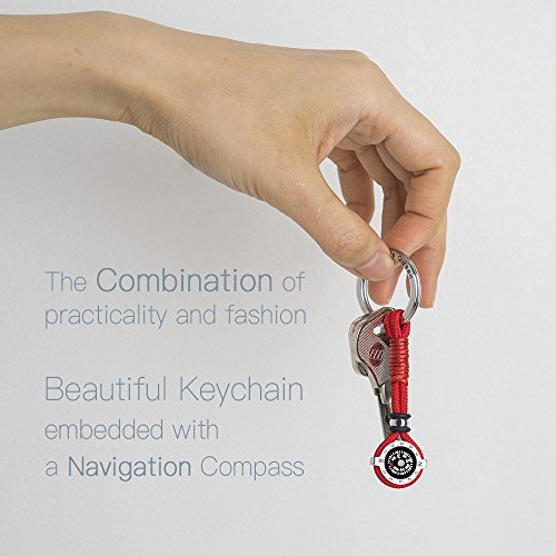 DAYHAO Survival Compass 4 DAYHAO Novelty Compass Keychain for Outdoor Enthusiast,Stylish & Practical,Quality Compass for Hiking,Camping,Luxurious Packaging,Outdoor Gift for Outdoorsman,Gift for Hikers,Campers and Backpackers