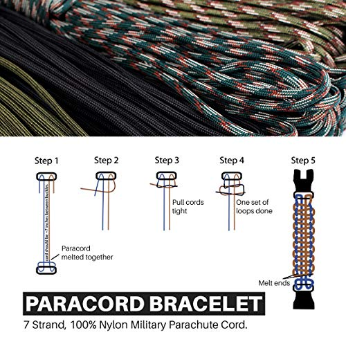 ETROL  4 ETROL Best Gift Paracord Survival Bracelet