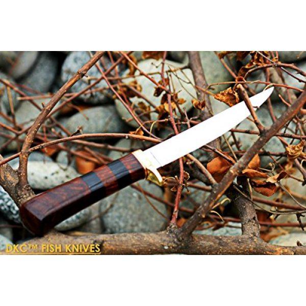 "DKC Knives Fixed Blade Survival Knife 4 (4 9/18) Sale DKC-610 Sale Black Doucette Fishing Filet Knife Mirror Finish Steel Blade Hunting Handmade Knife Fixed Blade 5.9 oz 11"" Long 6"" Blade"