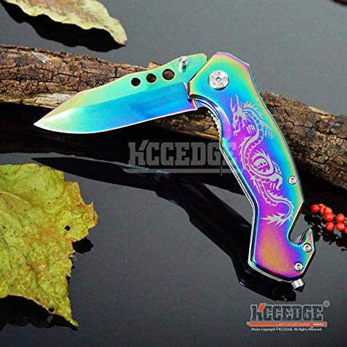 KCCEDGE BEST CUTLERY SOURCE  5 KCCEDGE BEST CUTLERY SOURCE EDC Pocket Knife Camping Accessories Razor Sharp Edge Drop Point Blade Folding Knife Camping Gear Survival Kit 58595