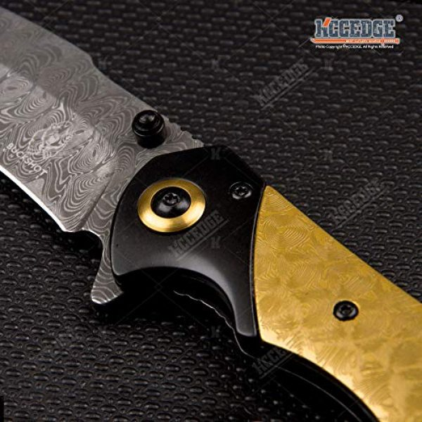 KCCEDGE BEST CUTLERY SOURCE Folding Survival Knife 7 KCCEDGE BEST CUTLERY SOURCE EDC Pocket Knife Camping Accessories Razor Sharp Edge Tanto Recurve Folding Knife Camping Gear Survival Kit 57239