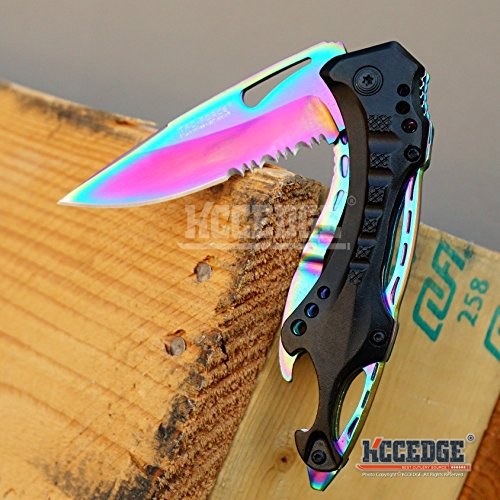 Wartech  3 Buckshot Knives 8PC Ultimate Rainbow Combo Set Tactical Outdoor EDC Pocket Folding Knife Razor Blade Cleaver Wrench Multipurpose Camping Gear Pocket Knife