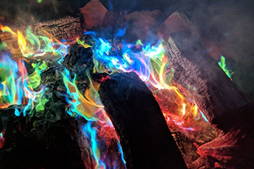 Mystical Fire  2 Mystical Fire Flame Colorant Vibrant Long-Lasting Pulsating Flame Color Changer for Indoor or Outdoor Use 0.882 oz. Packets 2 Pack