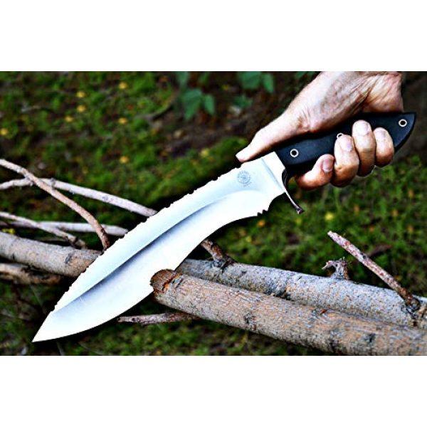 Bobcat Knives Fixed Blade Survival Knife 4 Bobcat Knives Custom Handmade Khukri Kukri Knife D2 Tool Steel Fully Functional with Leather Sheath