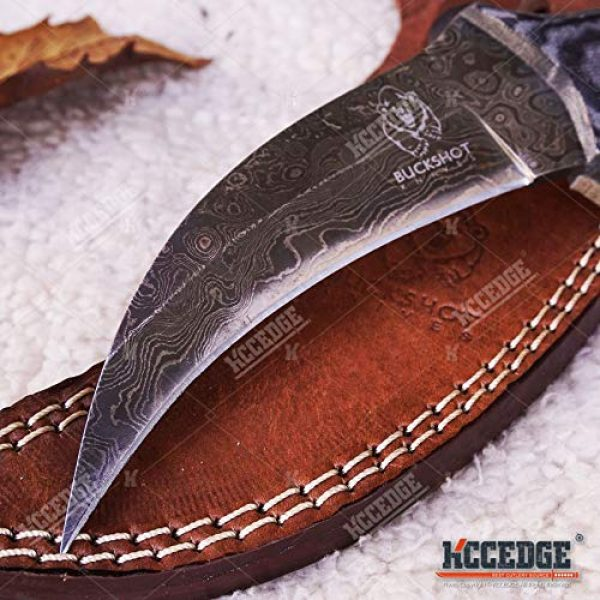 KCCEDGE BEST CUTLERY SOURCE Fixed Blade Survival Knife 2 Tactical Knife Survival Knife Hunting Knife Full Tang 250 LAYER DAMASCUS Fixed Blade Knife Razor Sharp Edge Camping Accessories Camping Gear Survival Kit Survival Gear 76025