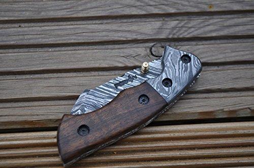 Perkin  5 Perkin - Handmade Damascus Pocket Knife - Beautiful Folding Knife