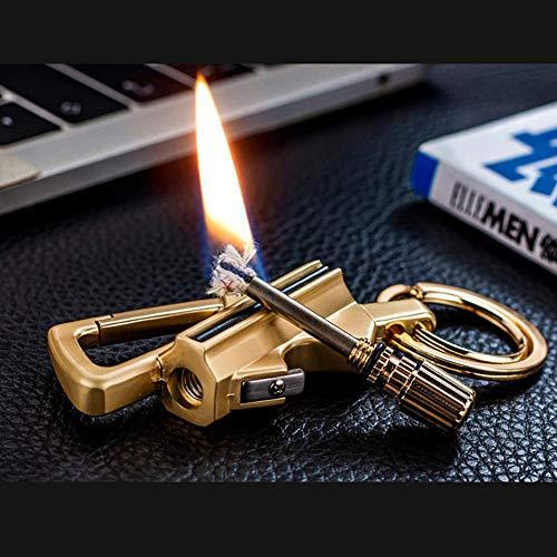 Aliwendy Survival Fire Starter 2 Aliwendy 2020 Updated Version Keychain Bottle Opener with Flint Metal Matchstick Fire Starter Great Kerosene Refillable Keychain Multitool Mountaineering Buckle Lighter Emergency Survival Gear