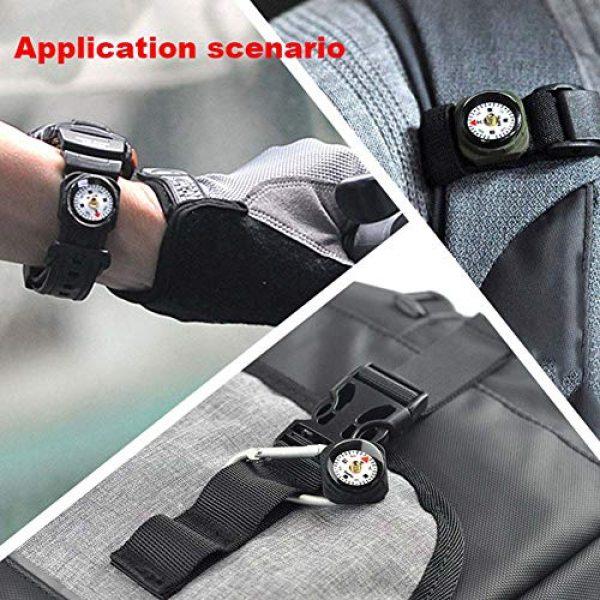 KanPas Survival Compass 5 KanPas Mini Luminous Button Compass for Watch Band Lanyard
