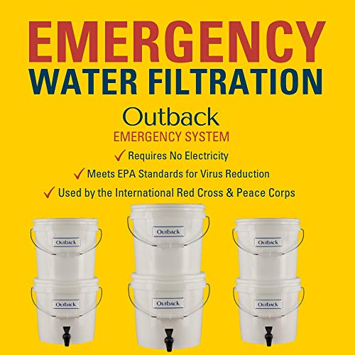 Outback  6 Outback Emergency Water Filtration Bundle: Portable Gravity Filter Plus + Extra Filter Replacement Kit - Removes Viruses & Bacteria 99.99%