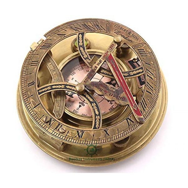 Roorkee Instruments India Survival Compass 4 Roorkee Instruments India Top Grade Gilbert & Son London Sundial Compass/Perfectly Calibrated Compass