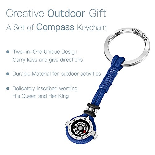 DAYHAO Survival Compass 3 DAYHAO Novelty Compass Keychain for Outdoor Enthusiast,Stylish & Practical,Quality Compass for Hiking,Camping,Luxurious Packaging,Outdoor Gift for Outdoorsman,Gift for Hikers,Campers and Backpackers