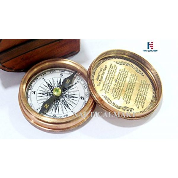 NauticalMart Survival Compass 3 NauticalMart Brass Compass - Poem Engraved Compass - Megnatic Compass - Unique Vintage Gift - Camping Compass - Boating Compass - Gift Compass - Graduation Day Gifts - Husband - Father - Keepsake