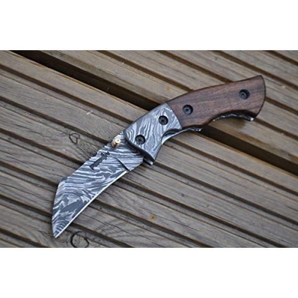 Perkin Folding Survival Knife 2 Perkin - Handmade Damascus Pocket Knife - Beautiful Folding Knife