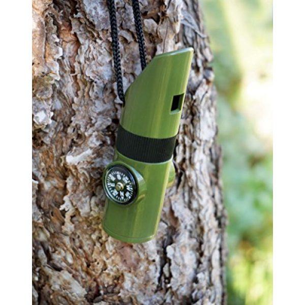 SE Survival Whistle 3 SE 7-IN-1 Green Survival Whistle - CCH7-1G