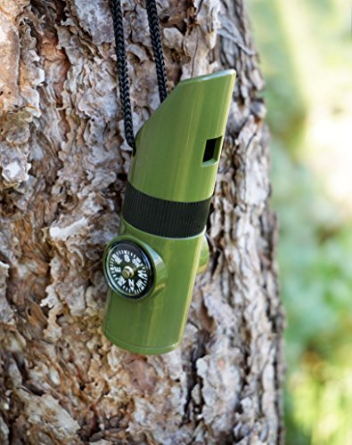 SE  3 SE 7-IN-1 Green Survival Whistle - CCH7-1G