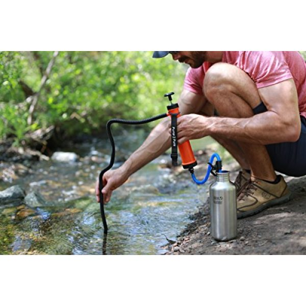 Seychelle Survival Water Filter 6 Seychelle Portable Water Filter Camping Pump - Outdoors, Hiking, Travel, Emergency Preparedness - Removes Bacteria, Viruses, Radiological Contaminants - Large Size