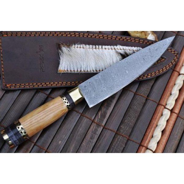Perkin Fixed Blade Survival Knife 2 Perkin Knives - Custom Handmade Damascus Hunting Knife - Beautiful Kitchen & Camping Knife