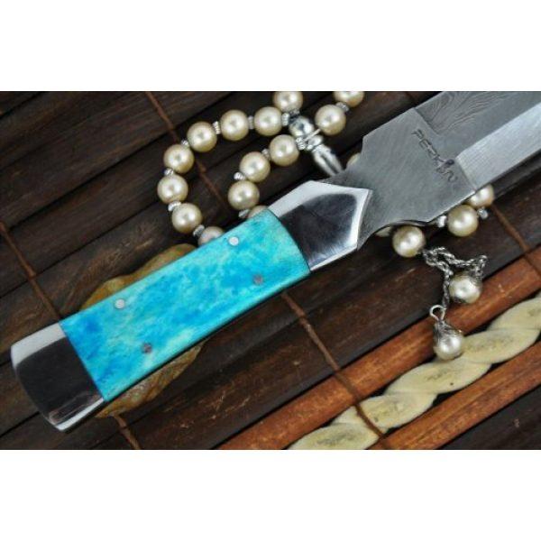 Perkin Fixed Blade Survival Knife 6 Perkin Knives - Custom Handmade Damascus Hunting Knife - Double Edge Knife