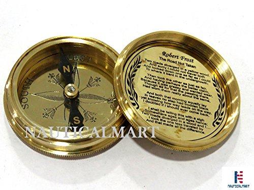 NauticalMart Survival Compass 4 NauticalMart Vintage Brass Compass with Nautical Gift Case Integrity, Responsibility, Forgiveness, Compassion Maritime